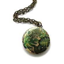 Load image into Gallery viewer, Plant Lady Locket Necklace