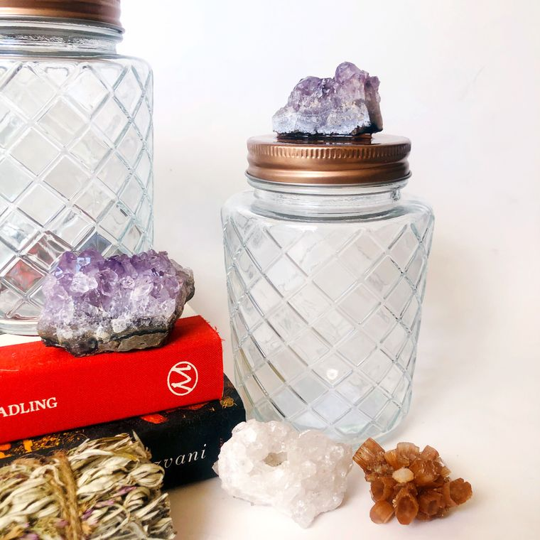 Amethyst Stash Jar to Stash Your Stuff