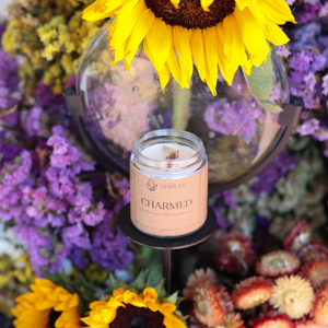 'Charmed' Soy Candle - Fire & Amethyst