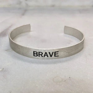 Brave Brushed Silver Cuff