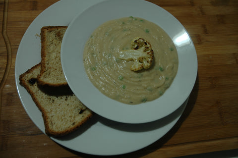 Grilled Cauliflower Soup