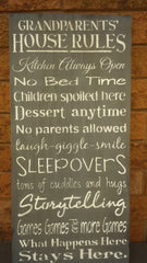GRANDPARENT HOUSE RULES