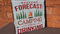CAMP POST SIGN