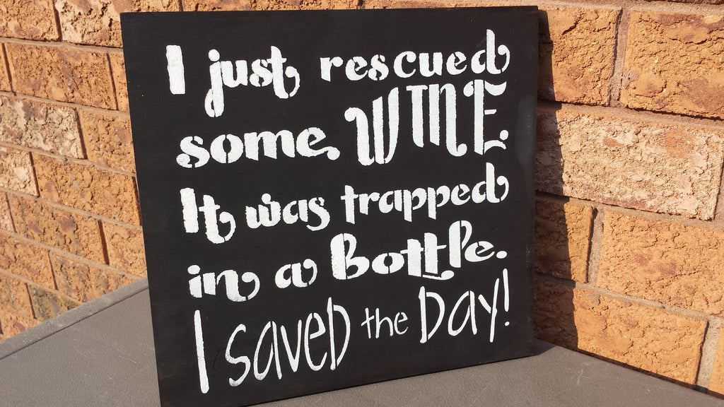 WINE HUMOR SIGN
