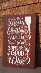 Christmas Wine Sign