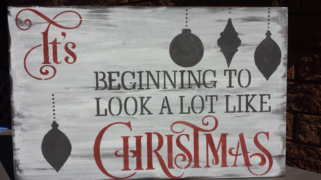 CHRISTMAS LYRIC SIGN