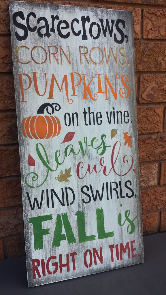 FALL OUTDOOR SIGN