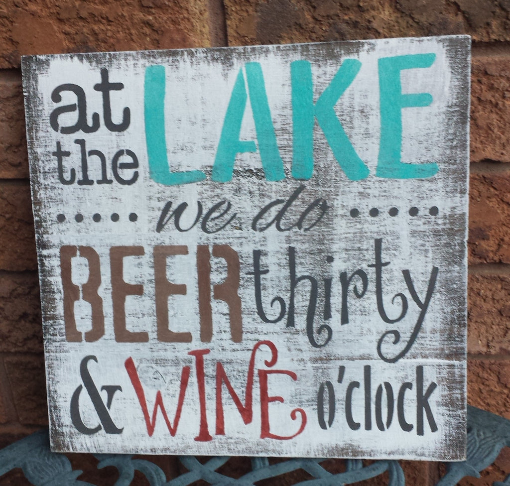 LAKE HUMOR SIGN