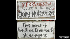 CHRISTMAS/WELCOME Sign