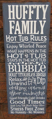 HOT TUB SIGN