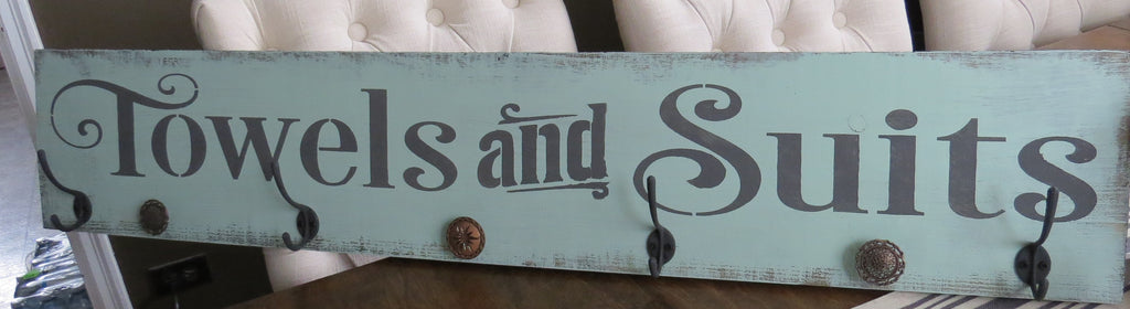 Pool towel sign (SOLD)
