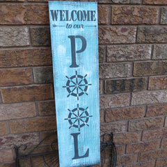 Pool Welcome Sign