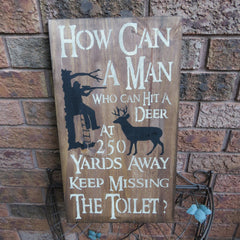 BATHROOM HUMOR SIGN