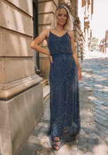 Load image into Gallery viewer, Montique - Navy Beaded Dress (Size 12)