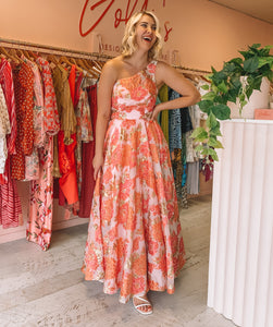 Jadore - Pink Floral Gown (Size 12)