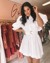 Load image into Gallery viewer, Aje - Eucalpt Puff Sleeve Shirt Dress (Size 6/10)