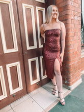 Load image into Gallery viewer, Misha - Tamara Sequin Dress (Size 8-10)