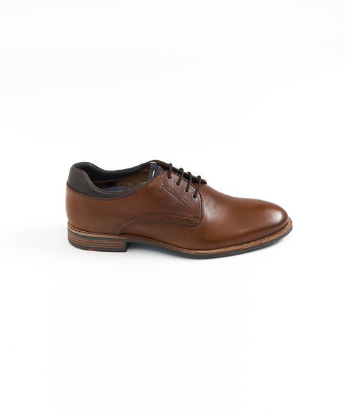 MASSIMO 3-EYELET DERBY SHOE / COGNAC