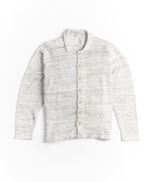 Inis Meain Unwashed Linen Shirt Jacket S2009-PLAICE