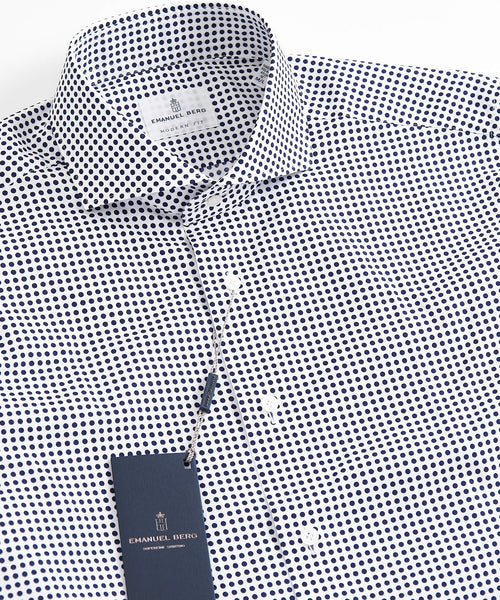 DOT PRINT MODERN FIT SHIRT / NAVY