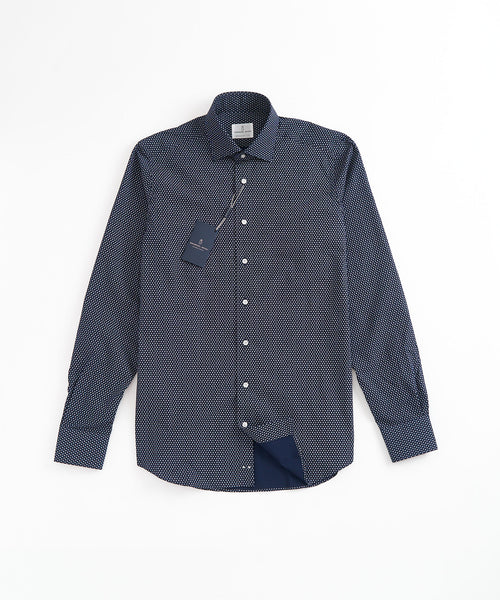 MINI FLOWER MODERN FIT SHIRT / NAVY