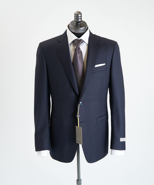 CHECK SUIT / NAVY