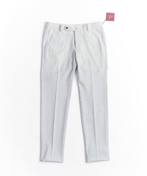 STRIPED TECH TERRY PANTS / WHITE