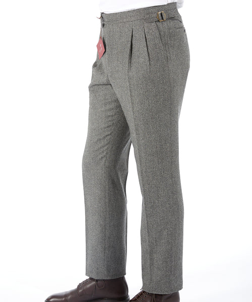 WOOL & CASHMERE RELAXED DRESS TROUSERS / TAUPE