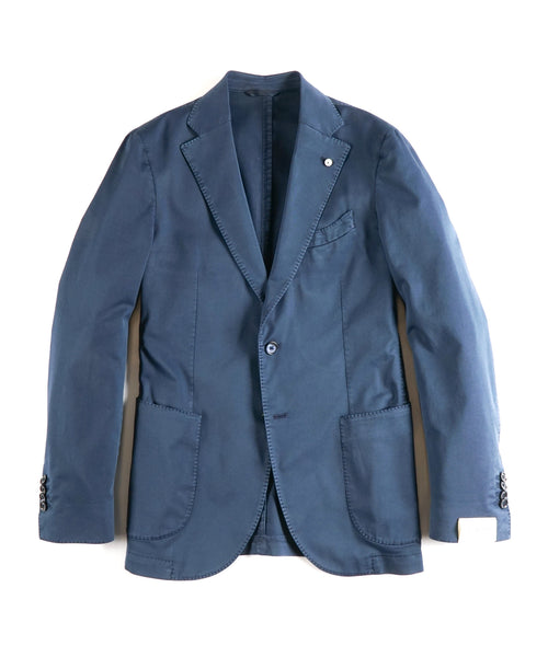 COTTON STRETCH TWILL BLAZER / BLUE