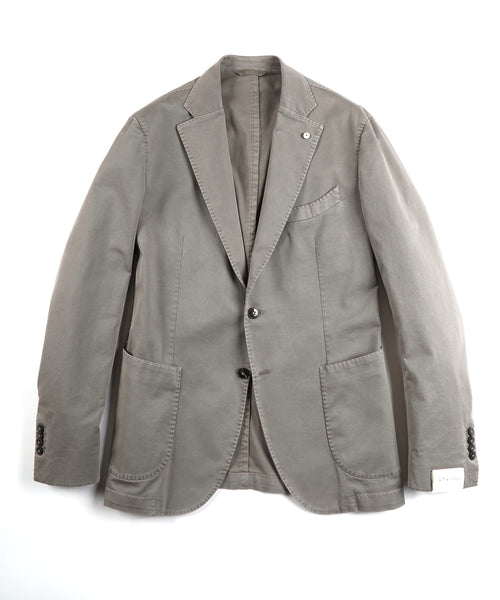 COTTON STRETCH TWILL BLAZER / SAND