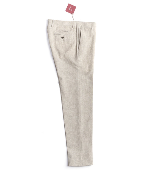 LIGHTWEIGHT SEERSUCKER PANTS / STONE