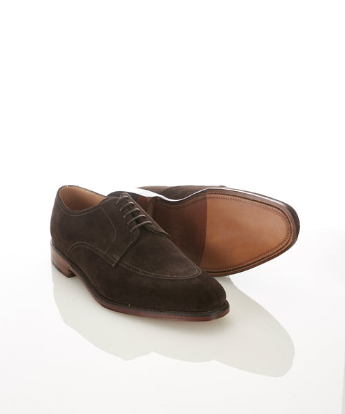 EALING SUEDE SPLIT TOE SHOE / DARK BROWN