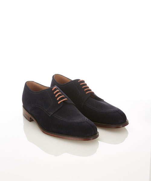 EALING SUEDE SPLIT TOE SHOE / NAVY