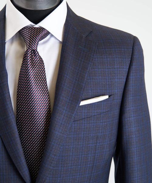 SUBTLE CHECK SUIT / BLUE