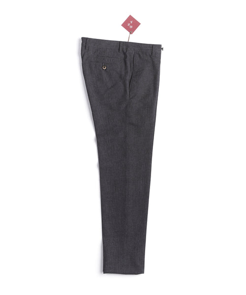 LIGHTWEIGHT SEERSUCKER PANTS / GREY
