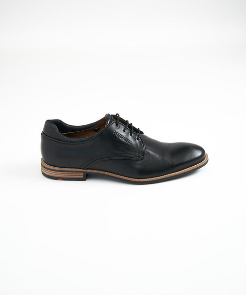 MASSIMO 3-EYELET DERBY SHOE / BLACK