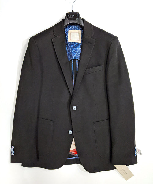 STRETCH PIQUET SPORT JACKET / BLACK
