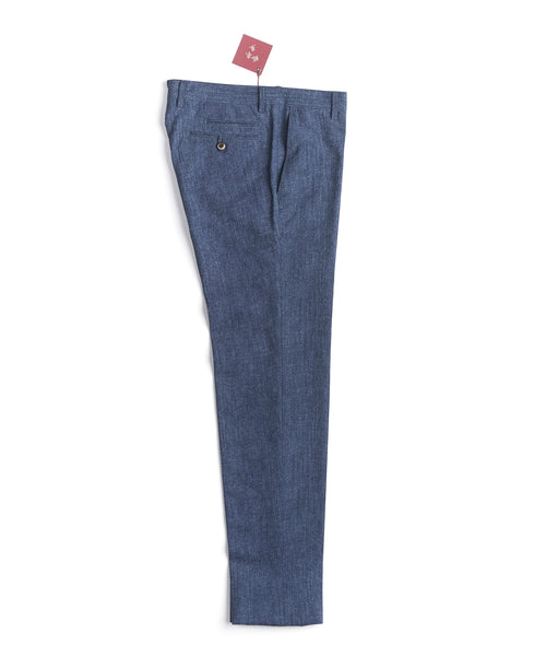 LIGHTWEIGHT SEERSUCKER PANTS / INDIGO