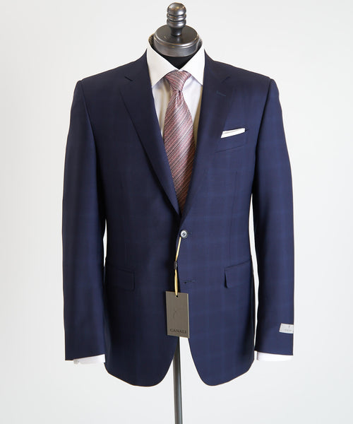 TONAL WINDOWPANE SUIT / COBALT BLUE