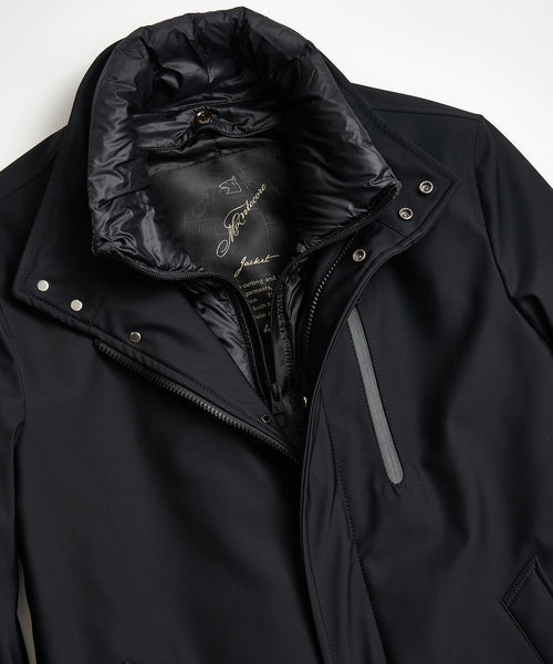 TECHNICAL CAR COAT / BLACK