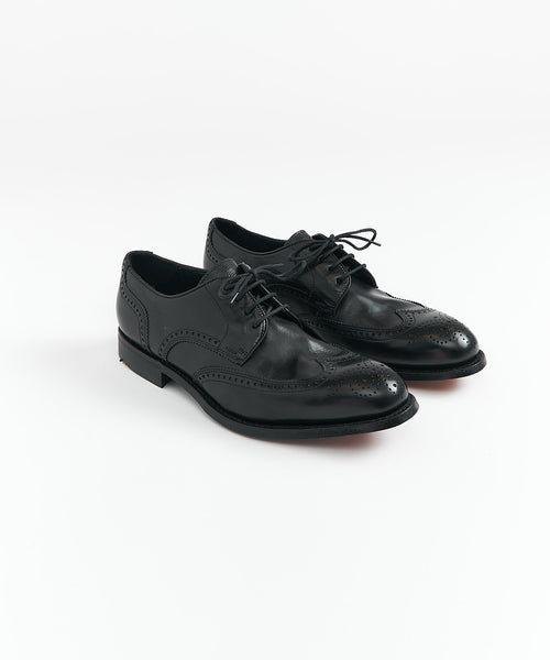 ORES WINGTIP DERBY SHOE / BLACK