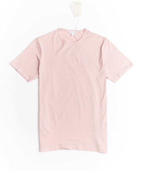 LONG STAPLE CREW NECK T-SHIRT / PINK