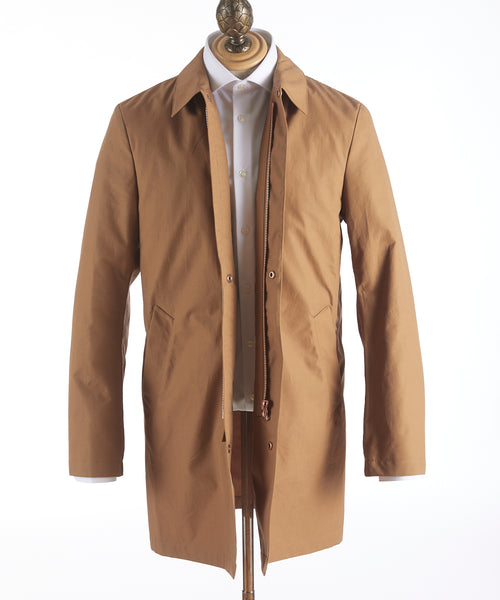 Private White V.C.'s Ventile Mac Coat Cinnamon: G16064-CINNAMON