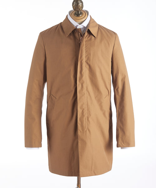 Private White V.C.'s Ventile Mac Coat G16064-CINNAMON