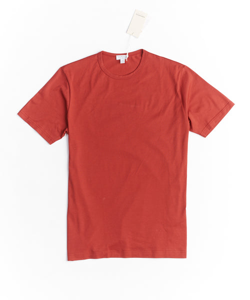 LONG STAPLE CREW NECK T-SHIRT / RED