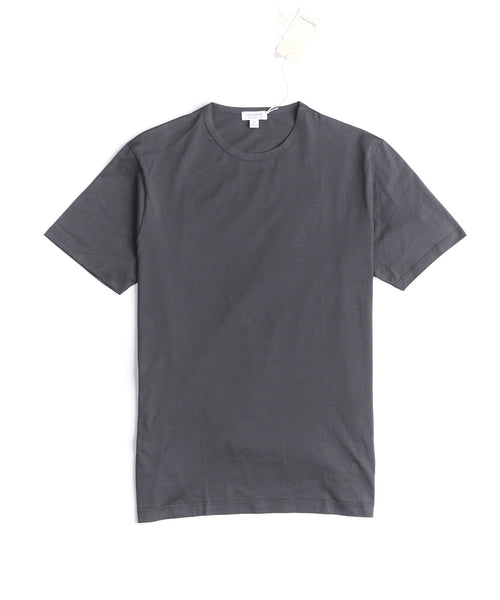 LONG STAPLE CREW NECK T-SHIRT / CHARCOAL