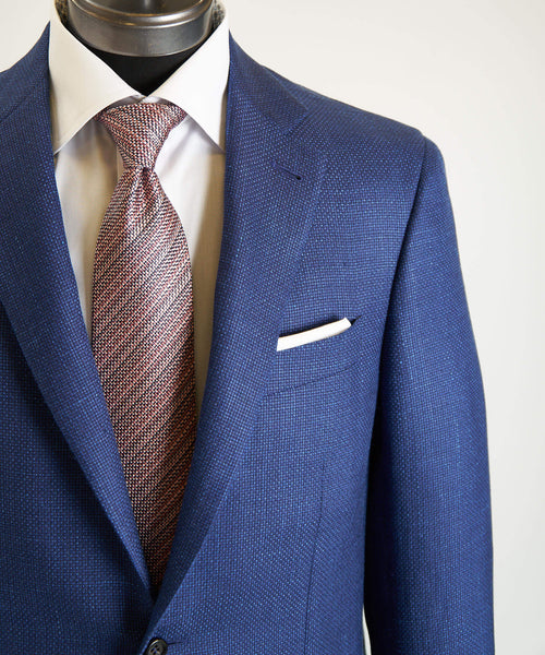 HERRINGBONE SPORT JACKET / BLUE