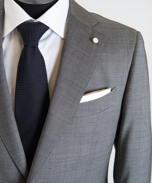 REDA STRETCH NAILHEAD SUIT / GREY