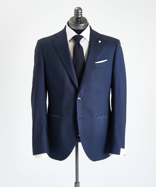 REDA STRETCH NAILHEAD SUIT / NAVY