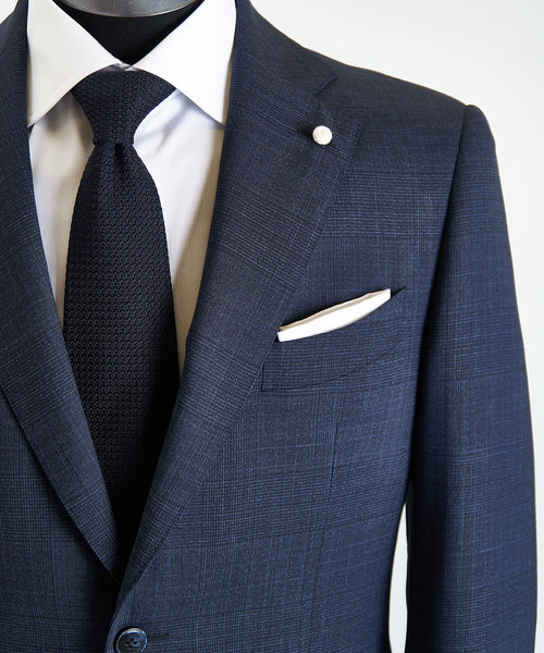 LORO PIANA 'MOOVING' CHECK SUIT / NAVY